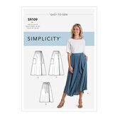 Wrap skirts in various lengths with tie options. Simplicity 9109.
