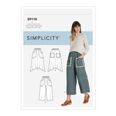 Pull On Skirts and Cropped Pants. Simplicity 9110.