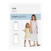 Childrens and Girls Dresses. Simplicity 9120.