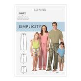 Unisex Sleepwear. Simplicity 9127.