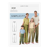 Unisex Sleepwear. Simplicity 9129.