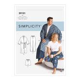 Unisex Sleepwear. Simplicity 9131.