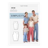 Unisex Sleepwear. Simplicity 9132.