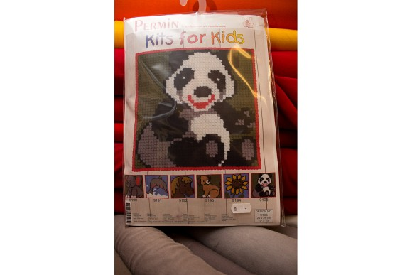 Childrens embroidery with panda