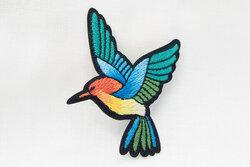 Hummingbird patch 4 x 6 cm