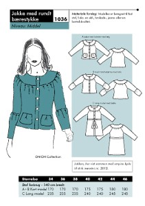 Onion pattern: Jacket with round carry piece