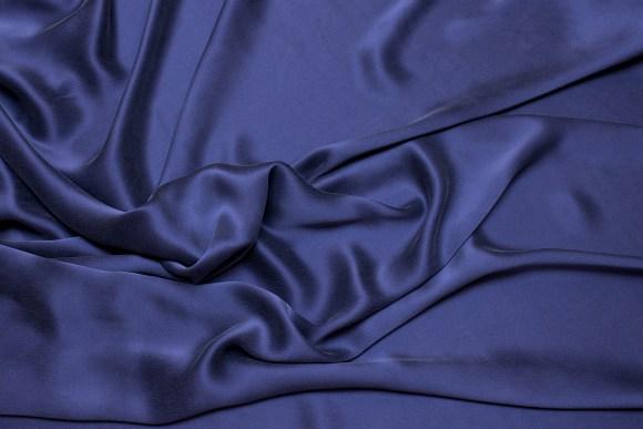 Dusty navy-blue, gorgeous, sandwashed pure silk