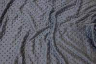 Extra soft, grey microfleece with heightened dots