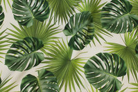 Medium-thickness cotton with big leaves in digital-print