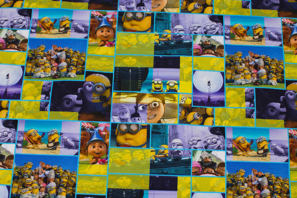 Yellow and purple cotton-jersey with Minions