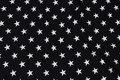 Black cotton-jersey with white 2 cm stars