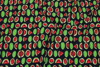 Black cotton-jersey with watermelons