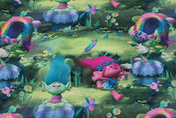 Green cotton-jersey with trolls