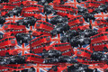Cotton-jersey with London-busses and London-taxies