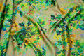 Elegant 100% peau de soie in fine green nuances