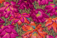 Beautiful cotton from rowan with big flowers in fuchsia and orange