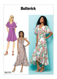 Butterick 6554. Wrap Dresses.