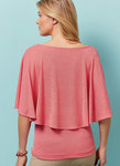 Close fitting tops have sleeve variations.For moderate stretch knits only.
