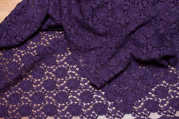 Deep dark purple dress-lace-fabric