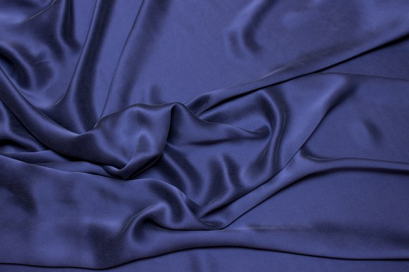 Dusty navy-blue, gorgeous, sandwashed pure silk