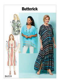 Butterick 6559. Top, Tunic And Caftan.