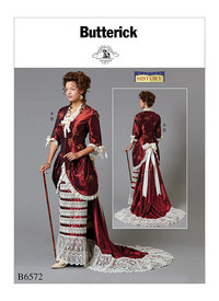 Butterick 6572. Jacket and Skirt with Train.