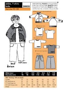 Jacket, T-shirts, Pants. Onion 20035.