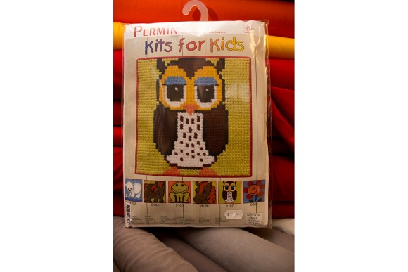 Childrens embroidery with Owl