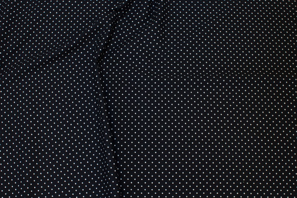 Black cotton-jersey with white 2 mm mini-dots