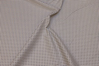 Brown and sand-colored, woven cotton with small 8 mm pattern