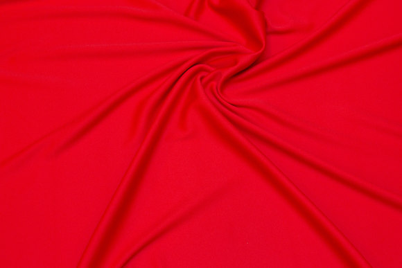Clear red, lightweight polyesterjersey for dresses etc.