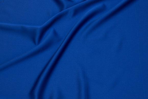 Matt micro-satin in cobolt-blue for dresses