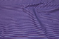 Narrow-striped cotton in dark purple and light-purple