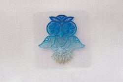 Owl patch 3-4 cm