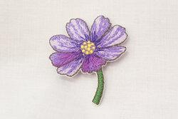 Patch flower purple 4 x 3 cm