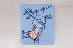 Patch girl in a swing 7 x 8 cm