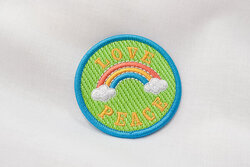 Patch love and peace 6 cm