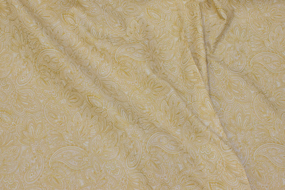 Patchwork-cotton in off white and gold