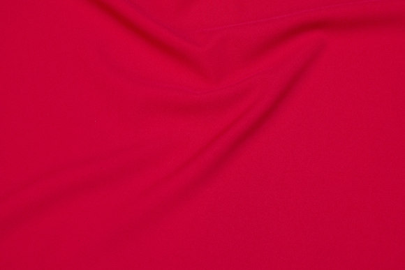 Polyester bi-stretch in red