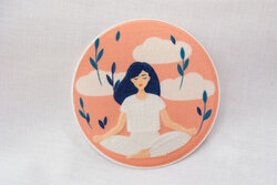 Recycle Yoga patch 6.5 cm