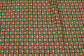 Retro-cotton brown and orange and green.