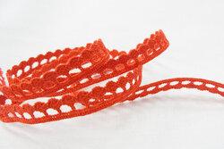 Crochet ribbon red 1cm