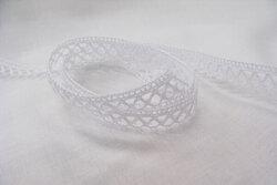 Crochet ribbon white 1cm