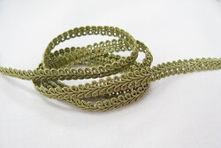 Possement ribbon olive 0,8cm