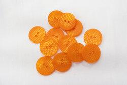 Button crocodile-look orange 1,8cm