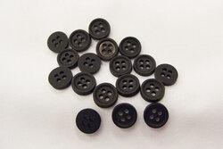 Tiny black button 0,9cm