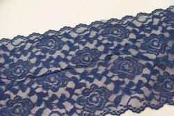 Lace elastic denim blue 15cm