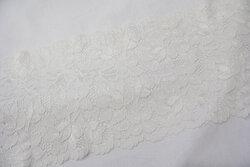 Lace elastic white 15cm