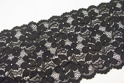 Lace elastic black 15cm