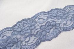Lace elastic dusty blue 10cm